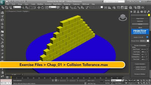 Controlling the accuracy of your simulations: Getting Started with Reactor in 3ds Max