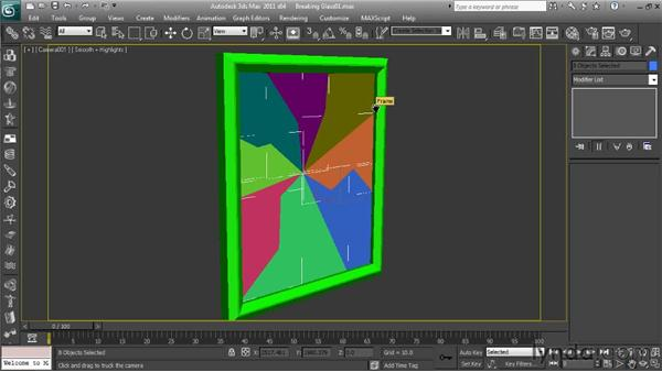 Adding the simulation's physical properties: Getting Started with Reactor in 3ds Max