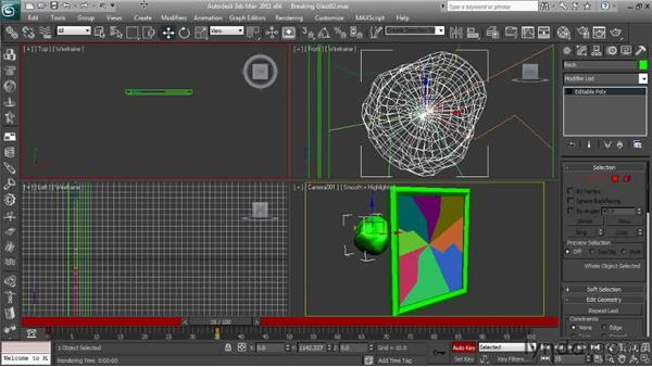 Animating the breaking object: Getting Started with Reactor in 3ds Max