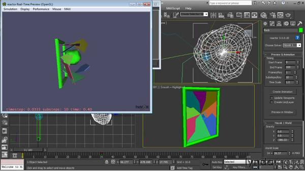 Previewing the simulation: Getting Started with Reactor in 3ds Max