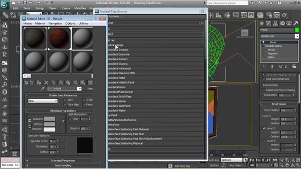 Building the scene's materials: Getting Started with Reactor in 3ds Max