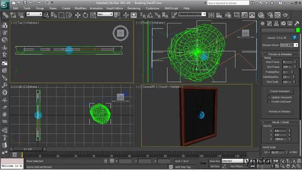 Creating the keyframed animation: Getting Started with Reactor in 3ds Max