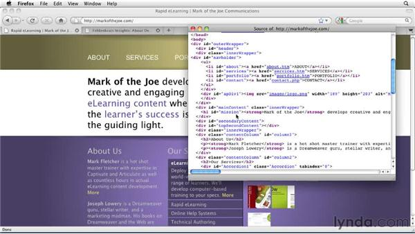 Understanding the benefits of structural tags: Dreamweaver CS5: Getting Started with HTML5