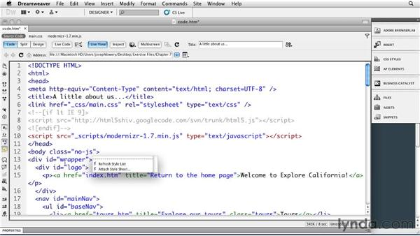 Detecting features: Dreamweaver CS5: Getting Started with HTML5