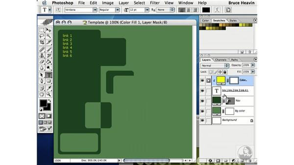 building template part 3: Working with Color