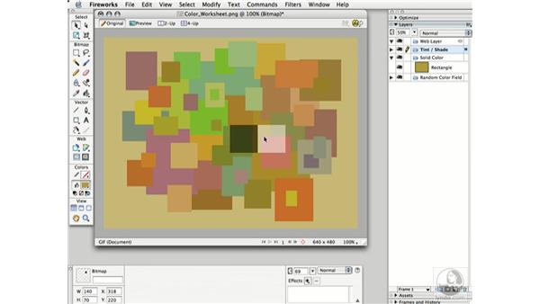 color worksheet: Working with Color