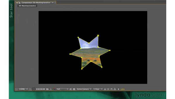 Using advanced parametric shapes: After Effects Apprentice 05: Creating Transparency