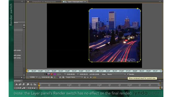 Masking in the Layer panel: After Effects Apprentice 05: Creating Transparency