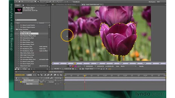 Targeting masks for animation: After Effects Apprentice 05: Creating Transparency
