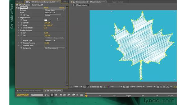 Filling mask shapes: After Effects Apprentice 05: Creating Transparency