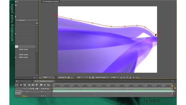 Following mask paths: After Effects Apprentice 05: Creating Transparency