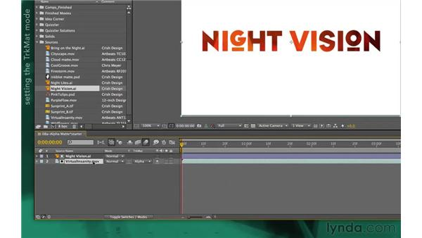 Using alpha mattes: After Effects Apprentice 05: Creating Transparency