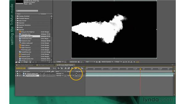 Working with luma mattes: After Effects Apprentice 05: Creating Transparency