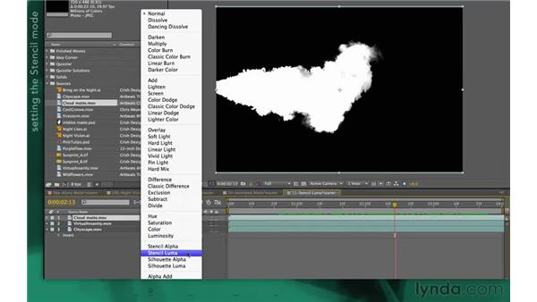 Using Stencil Luma: After Effects Apprentice 05: Creating Transparency