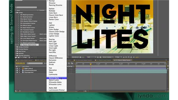 Using Stencil Alpha: After Effects Apprentice 05: Creating Transparency
