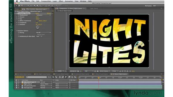 Using effects with stencils: After Effects Apprentice 05: Creating Transparency