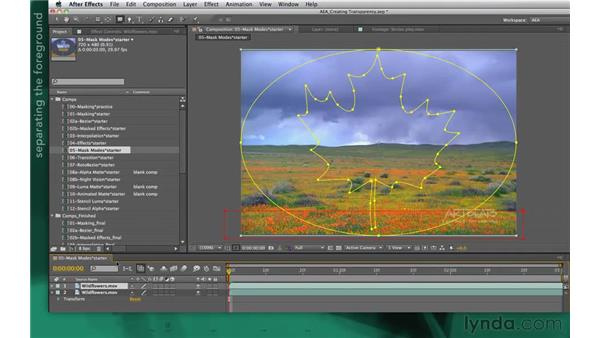 Idea corner one: More masks and effects: After Effects Apprentice 05: Creating Transparency