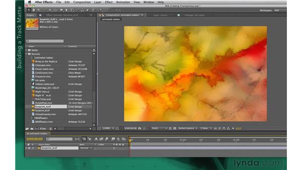 Idea corner three: Sequenced layers as mattes: After Effects Apprentice 05: Creating Transparency
