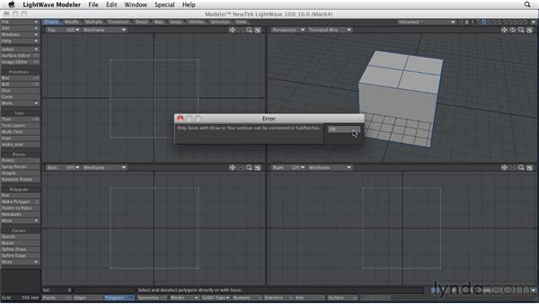 Comparing Subpatch with Catmull-Clark subdivisions: LightWave 10 Essential Training