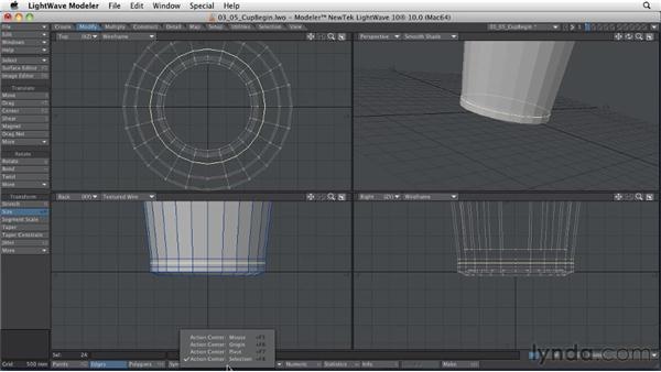 Adding detail to models: LightWave 10 Essential Training