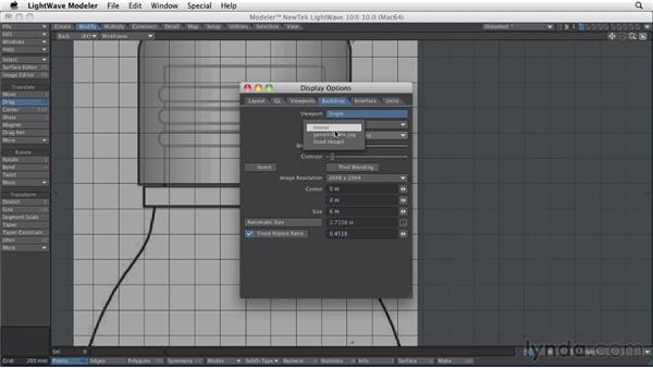 Building objects with curves: LightWave 10 Essential Training