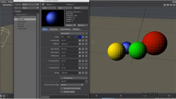 Understanding the Surface Editor: LightWave 10 Essential Training
