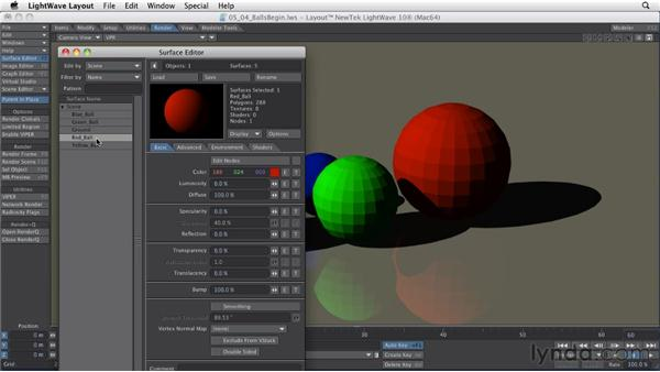 Editing surfaces: LightWave 10 Essential Training