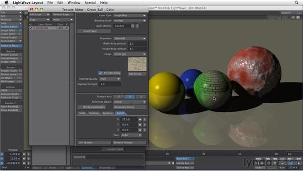 Looking at image map textures: LightWave 10 Essential Training