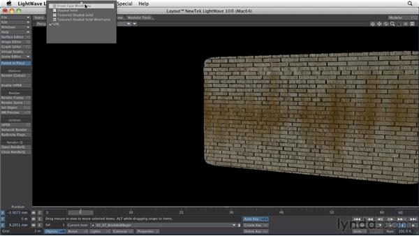 Using procedural texture options: LightWave 10 Essential Training