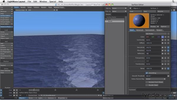 Creating a reflective surface: LightWave 10 Essential Training