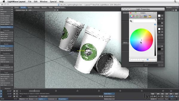 Lighting a 3D scene: LightWave 10 Essential Training