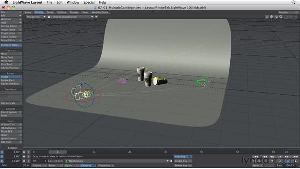Placing multiple cameras: LightWave 10 Essential Training
