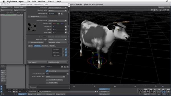 Animating textures: LightWave 10 Essential Training