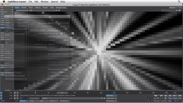 Going a step beyond with particle animation: LightWave 10 Essential Training
