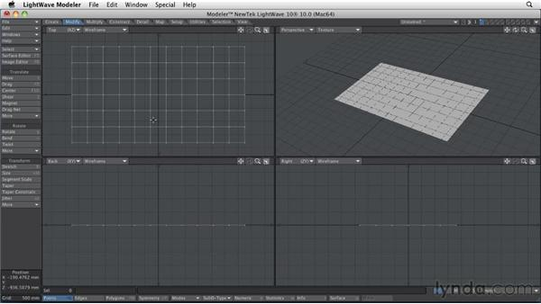 Animating cloth: LightWave 10 Essential Training
