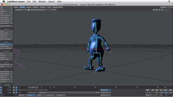 Working with rigged characters: LightWave 10 Essential Training
