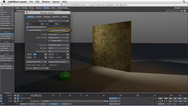 Setting up a render project: LightWave 10 Essential Training