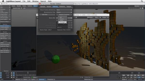 Determining the proper anti-aliasing filter: LightWave 10 Essential Training