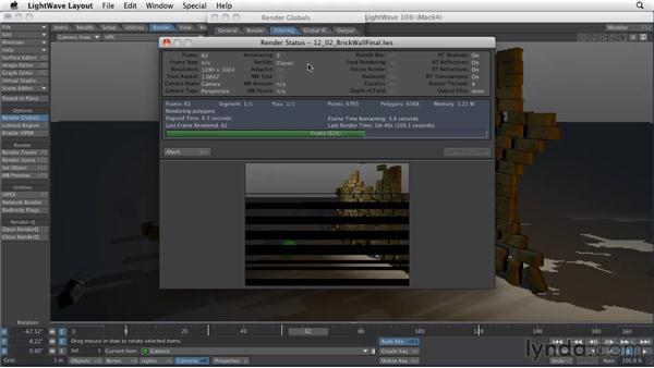 Rendering to movie files vs. image sequences: LightWave 10 Essential Training