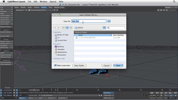 Exporting an object: LightWave 10 Essential Training