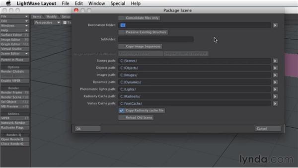 Exporting a full scene for backup: LightWave 10 Essential Training