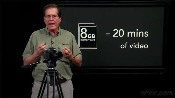 Choosing memory cards and batteries: Video for Photographers: Shooting with a DSLR