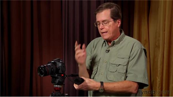 Gearing up for audio: Video for Photographers: Shooting with a DSLR
