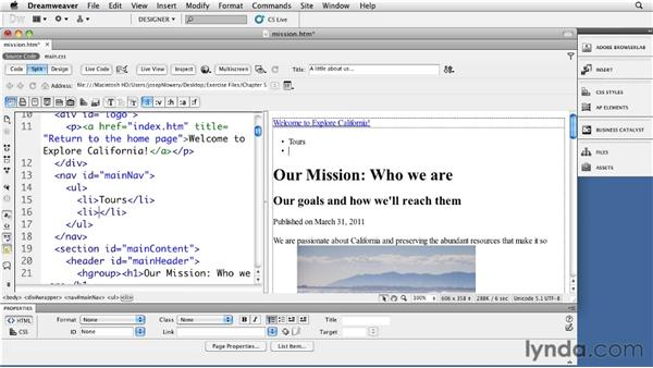 Understanding vertical menus: Site Navigation with CSS in Dreamweaver