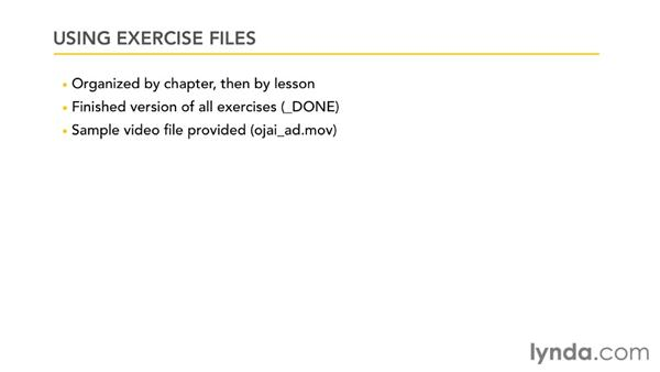Using the exercise files: Publishing Video with the Flash Platform