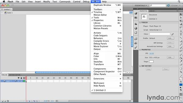 Setting up Flash Professional CS5: Publishing Video with the Flash Platform