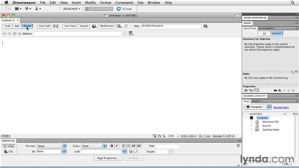 Setting up Dreamweaver CS5: Publishing Video with the Flash Platform