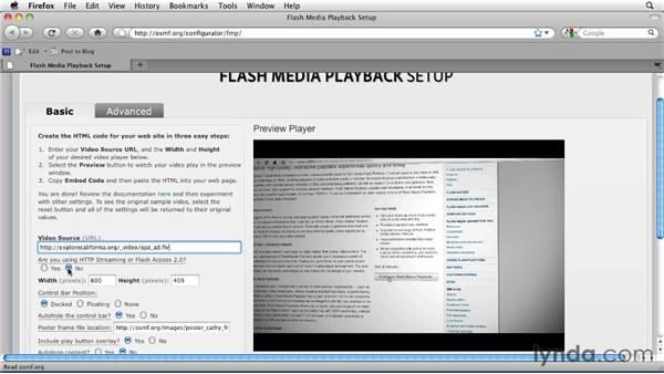 Configuring Flash Media Playback's general settings: Publishing Video with the Flash Platform
