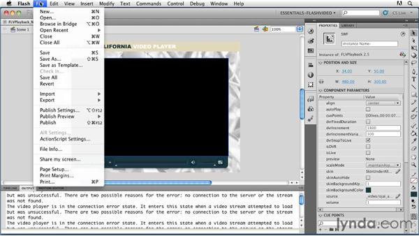Using embedded navigation cue points: Publishing Video with the Flash Platform