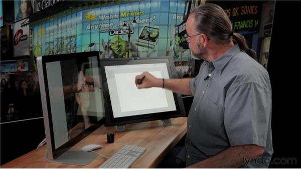 Using a Cintiq to control the brushes in Photoshop: Bert Monroy: The Making of Times Square, The Tools